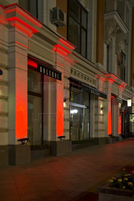 Архитектурная подсветка прожекторами Litewell