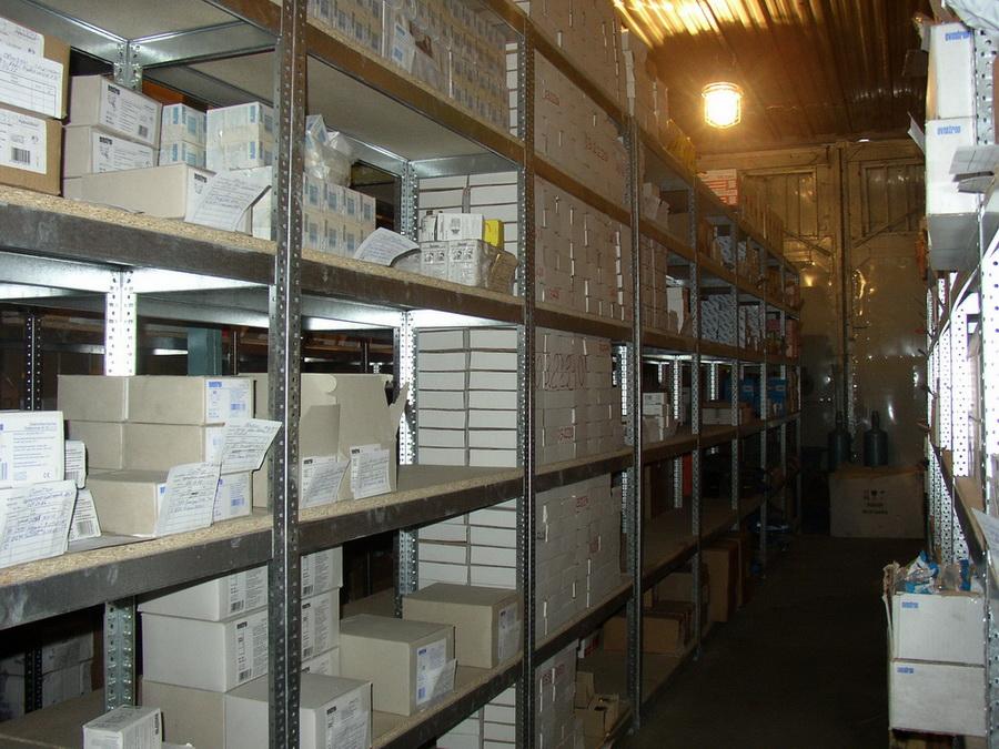 стеллажи для продовольственного склада (продажа