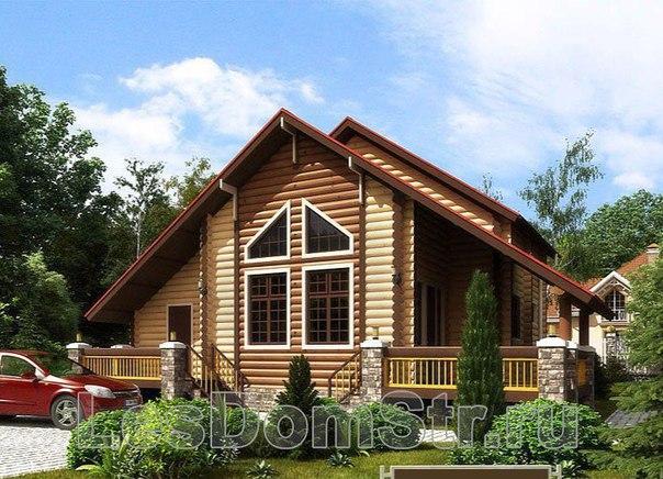 ЛесДомСтрой-изготовление деревянных домов из оцилиндрованного бревна