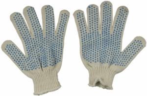 Перчатки вязаные Х/Б, с ПВХ - Отправка в регионы.