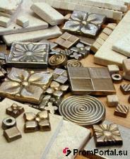Плитка металлическая (силумин, бронза)