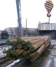 Опора ЛЭП деревянная пропитанная 8,5