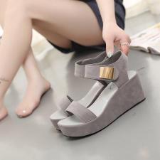 2016 Летние стили в Европе и Luo Мапхо пятки платформы сандалии yuzui обувь платформы высокой пятки платформы с tide