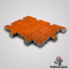 Тротуарная вибропрессованная плитка Волна, Красный, BRAER