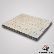 Тротуарная вибропрессованная плитка Ландхаус, Белый, BRAER