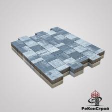 Тротуарная вибропрессованная плитка Ландхаус, Color Mix 7, BRAER