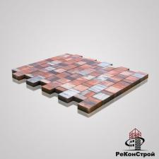 Тротуарная вибропрессованная плитка Ландхаус, Color Mix 4, BRAER