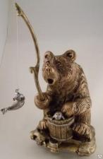 """Сувенир """"Медведь-рыбак""""(Большой)"""
