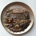 """Тарелка """"Новосибирск. Зоопарк"""" №1(серебро) арт. 54Т03/1"""