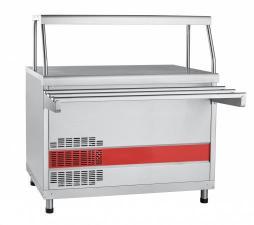 Прилавок холодильный ПВВ(Н)-70КМ-НШ . Прилавок холодильный для столовой,кафе. Прилавок для холодных закусок столовой линия раздачи Аста.