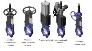 Задвижка шиберная DN100 PN10 BAR для сточных вод
