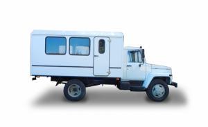Автобус на базе ГАЗ 33081 Садко для перевозки бригады