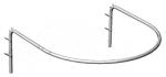5М-Р(хром) Кабина примерочная полукруглая, 1000х1000х325Н мм
