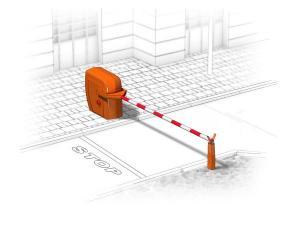 Автоматический шлагбаум вандалоустойчивого типа