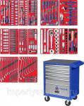"""Набор инструментов """"ПРОФИ"""" в синей тележке, 299 предметов МАСТАК 52-299B"""