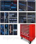 Набор инструментов в красной тележке, 286 предметов KING TONY 934A-010MRV