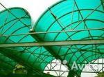 Сотовый поликарбонат зелёный