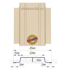 Металлический штакетник (евроштакетник) узкий 85мм RAL 1015 Слоновая кость