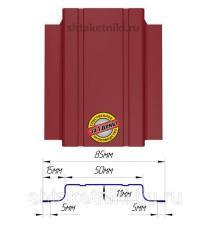 Металлический штакетник (евроштакетник) узкий 85мм RAL 3003 Рубин