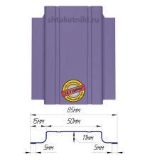 Металлический штакетник (евроштакетник) узкий 85мм RAL 4005 Сиреневый