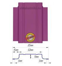 Металлический штакетник (евроштакетник) узкий 85мм RAL 4006 Пурпурный