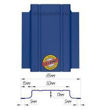 Металлический штакетник (евроштакетник) узкий 85мм RAL 5002 Синий Ультрамарин