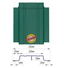 Металлический штакетник (евроштакетник) узкий 85мм RAL 6026 Опал