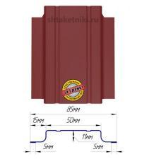 Металлический штакетник (евроштакетник) узкий 85мм RAL 3011 Красно-Коричневый