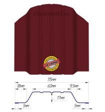 Металлический штакетник (евроштакетник) широкий 115мм RAL 3005 Красное вино