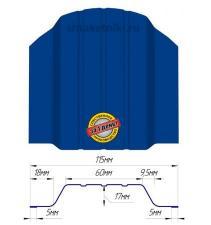 Металлический штакетник (евроштакетник) широкий 115мм RAL 5002 Синий Ультрамарин