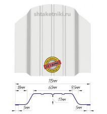 Металлический штакетник (евроштакетник) широкий 115мм RAL 9003 Белый