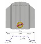 Металлический штакетник (евроштакетник) широкий 115мм RAL 9006 Серебро