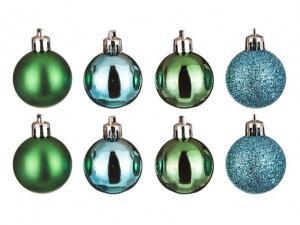 Набор шаров из 8 шт. диаметр=4 см. микс бирюза, зеленое яблоко Polite Crafts&gifts (858-015)