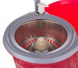 Торнадо моп с дозатором для моющего средства: пластиковое ведро 7,5л. с центрифугой Ningbo Liao (705-081)