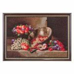 "Гобеленовая картина ""натюрморт с виноградом"" 77х56см. (404-026-27)"