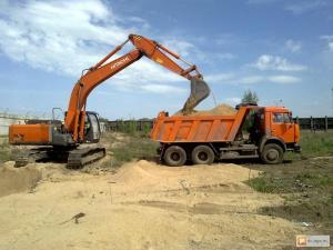 Песок строительный в мешках и валом с доставкой