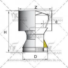 Дефлектор DDH d 160 полированный