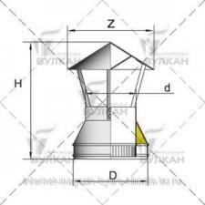 Зонт DAH d 200 полированный