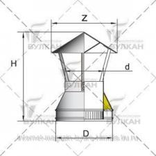 Зонт DAH d 250 полированный