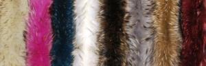 Меховой воротник из меха Песца, однотонный окрас