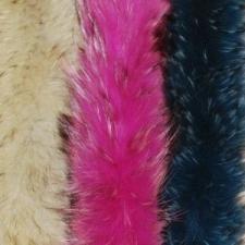 Меховые опушки Енот, окрашенного в однотонный цвет