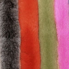 Меховые опушки из меха Песца, окрашенного в однотонный цвет
