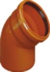 Отвод ПВХ для наружной канализации 200х45