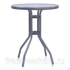 Стол круглый «Лестер» со стеклянной столешницей