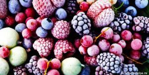 Фрукты и ягоды замороженные