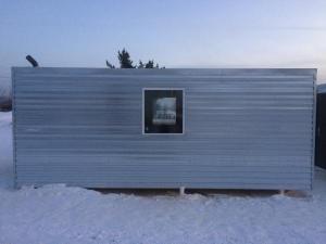 Вагончик строительный, бытовка, домик 15 м2 с буржуйкой
