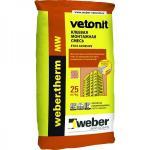 Вебер Ветонит Вебер Ветонит Терм МВ (25кг) клеевая смесь для монтажа минеральной ваты