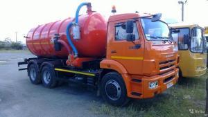 КО-529-20 на шасси КАМАЗ-65115-773082-42 вакуумная