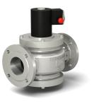 Клапаны газовые ВН электромагнитные с ручным взводом электрического типа, стальной корпус, фланцевые