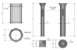 Закладная деталь фундамента ФМ-0,159-1,5-б